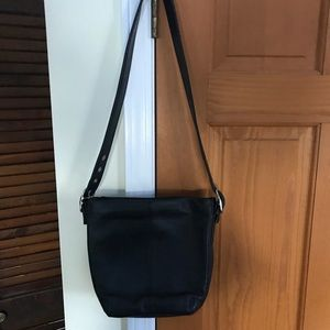 Aurielle leather black handbag